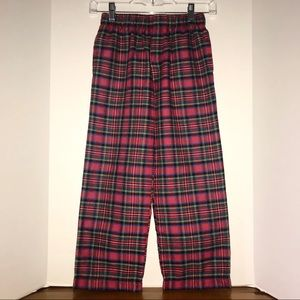 Lands' End lounge pants, red plaid with pockets